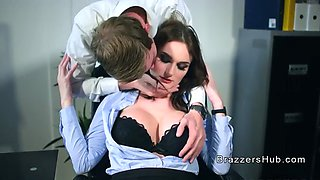 euro business woman bangs monster cock