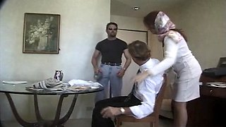 Passionate fucking in front of a tied up cuckold husband - Raylene