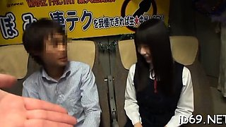 Vehement oriental hottie is having fun with her male boss
