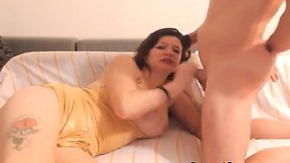 stunning amateur redhead gives amazing blowjob with swallow