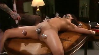Asian woman tied and abused