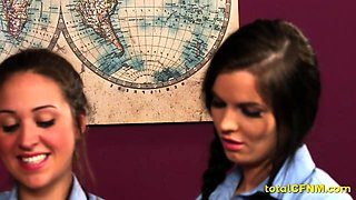 Schoolgirls get practical sex education